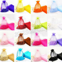 100Pcs Pouches Jewelry Packing Pouch Wedding Favor Organza Sweet Candy Gift Bag