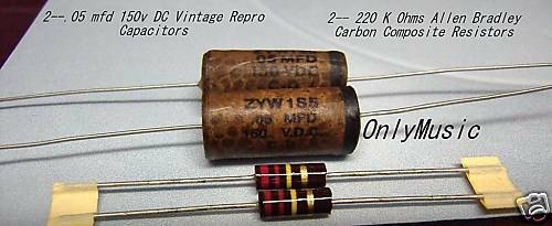 Compatible with Fender Jazz Bass 61 Vintage Repro capacitors /& resitors
