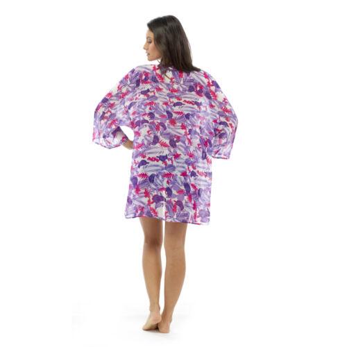 NUOVI Sandali Donna Ragazze Floreale Chiffon Kimono Coprire Nuotare Spiaggia Avvolgere Camicia UK Venditore