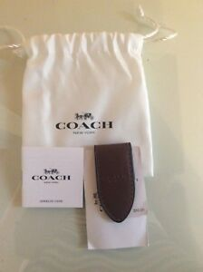 50-Coach-brown-money-clip-HOLIDAY-GIFT-wallet-man-teen-boy-bag-pouch-school-NEW