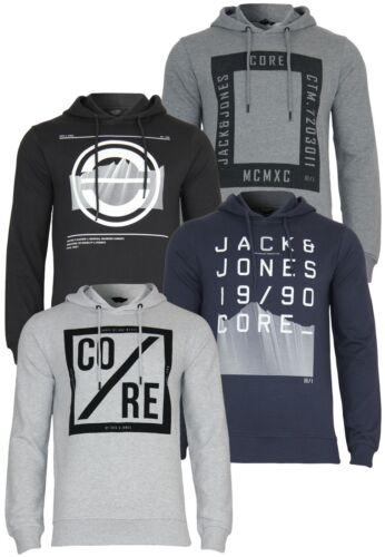 Jack /& Jones Men/'s Sweatshirt jjcoyard Hoodie Long Sleeve Print Hooded Jumper