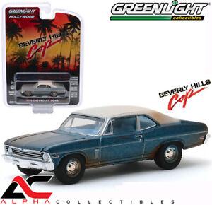 GREENLIGHT-44870D-1-64-1970-CHEVROLET-NOVA-BEVERLY-HILLS-COP-UNRESTORED