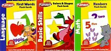 PLAYSKOOL Colors Numbers First Words FLASH CARDS Set of 3 English Math Pre-K NEW