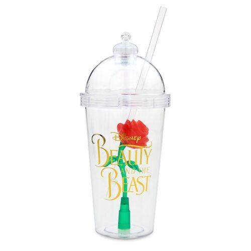 Disney Beauty /& The Beast Enchanted Light Up Rose Souvenir Sipper Tumbler Cup