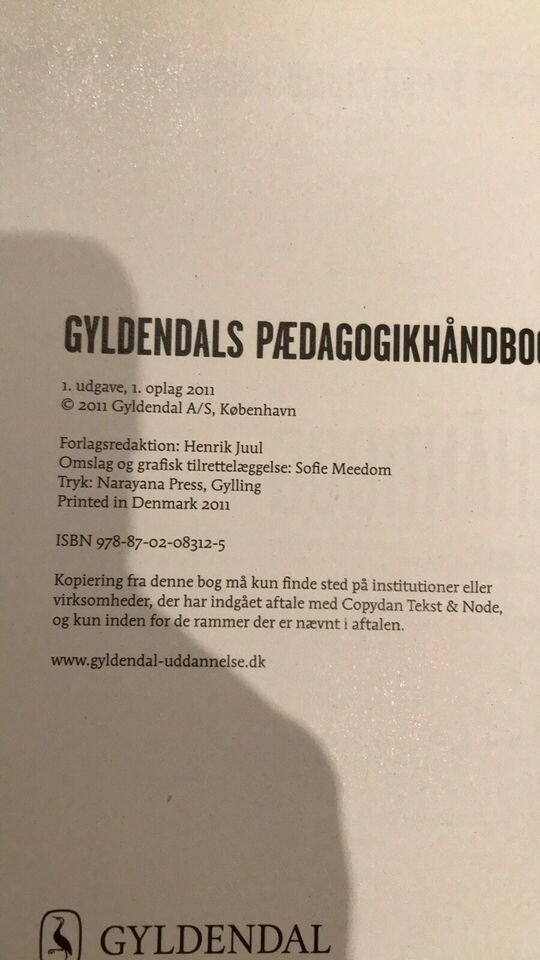 Gyldendals pædagogik håndbog, Per fibæk Laursen (red)