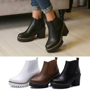 Thick Heels Ankle Boots For Women