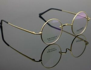 image is loading vintage titanium 42mm round glasses harry potter eyeglasses