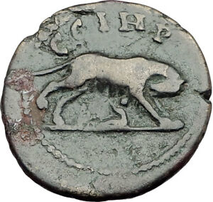 COMMODUS-188AD-Parium-Parion-Mysia-Authentic-Ancient-Roman-Coin-WOLF-i65162