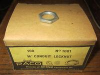 Raco 1001 Locknut Conduit 3/8 Box Of 100