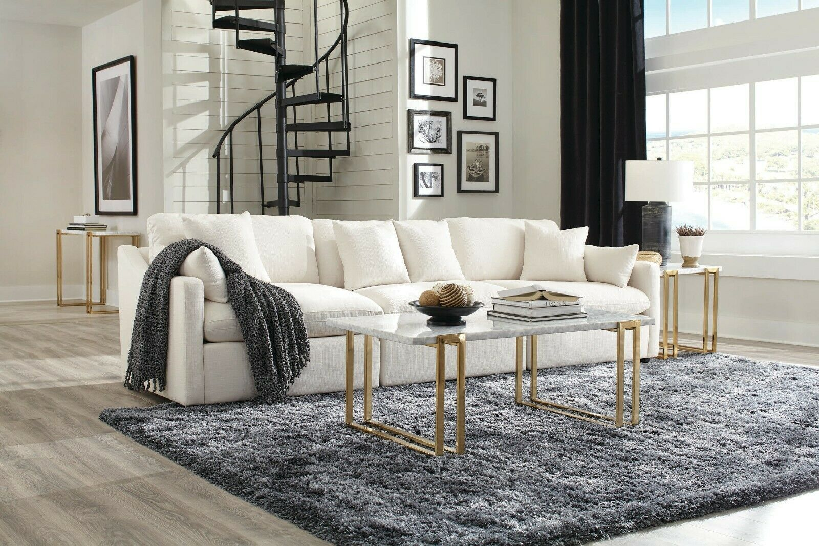 Casual Arm Chair Off White Button Tufted Velvet Living Room