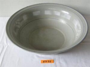 DDR Emaille Waschschüssel Emaileschüssel 41cm Pflanzgefäß Deko Garten 20M040