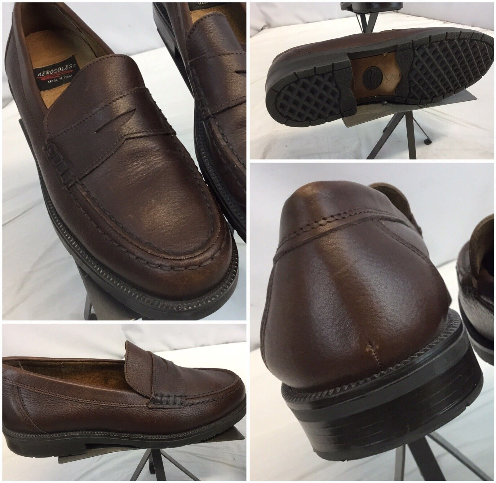 Aerosoles Loafers shoes Sz 11.5 Men Brown Penny Made  Worn Once YGI B9S-99
