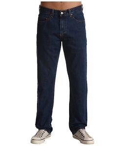 New-Levi-039-s-Mens-505-1534-Regular-Fit-Straight-Leg-Dark-Blue-Denim-Jeans-30-x-30