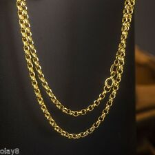 "New""Au750"" Pure 18K Yellow Gold Necklace 2mm Cable Link Chain / 60cm L 23.6inch"