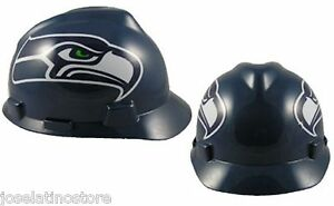 428aa0b9 Details about MSA V-Gard Cap Type Seattle Seahawks NFL Hard Hat Pin Type  Suspension 818392