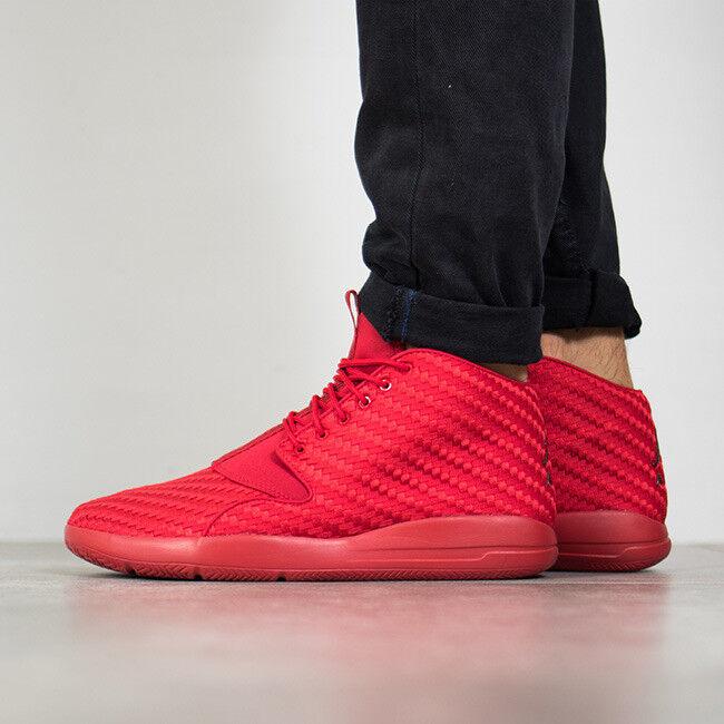 Nike Air Jordan ECLIPSE CHUKKA Triple Gym RED Black 12 Sneakers Shoes 881453-601 Cheap women's shoes women's shoes