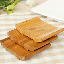 Natural Bamboo Soap Holder Dish Bathroom Shower Plate Stand Storage Wood TraCYC