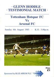 Tottenham-Hotspur-v-Arsenal-programme-Friendly-August-1985-good-condition
