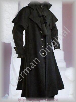 Victorian Black Box Coat Vintage Goth Steampunk Pelerine Edwardian Duster