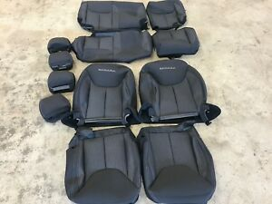 Image Is Loading FACTORY OEM CLOTH SEAT COVERS BLACK 2017 JEEP