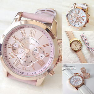 New-Women-039-s-Fashion-Numerals-Faux-Leather-Analog-Quartz-Wrist-Watch