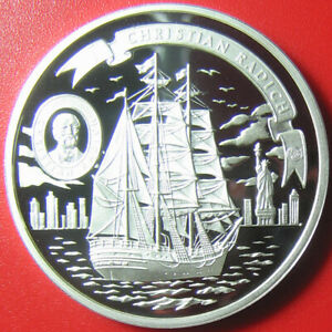 ND-2008-COOK-ISLANDS-5-SILVER-PROOF-034-CHRISTIAN-RADICH-034-NORWAY-TALL-SHIP-RARE