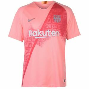 372f75863fb Nike Barcelona Third Jersey 2018 2019 Mens Pink Silver Football ...