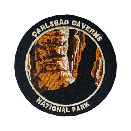 Carlsbad Caverns National Park Embroidered Patch Hook and Loop Applique Souvenir