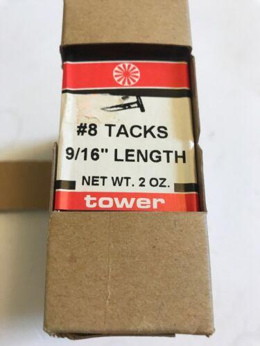 "2 oz Pack of 5  9//16"" Length 9//16-Inch #8 Blued Cut Tacks"