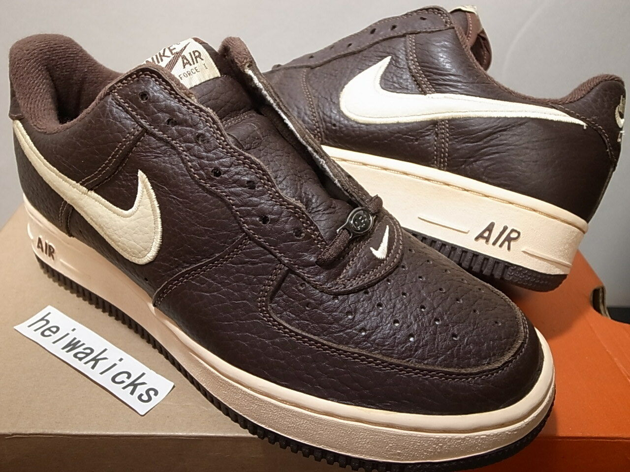 2018 NIKE AIR Exclusive FORCE 1 EU JP Exclusive AIR Chocolate/Light Straw 630033211 Talla 9 78c439