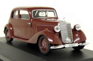 Altaya-1-43-Scale-Mercedes-Benz-170V-W136-1949-Brown-Diecast-model-Car