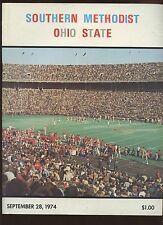 September 28 1974 NCAA Football Program SMU vs Ohio State EXMT
