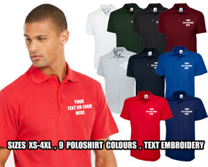 Personalised-Embroidered-Olympic-Polo-Shirt-Unisex-Your-Any-Text-Uniform-UC124