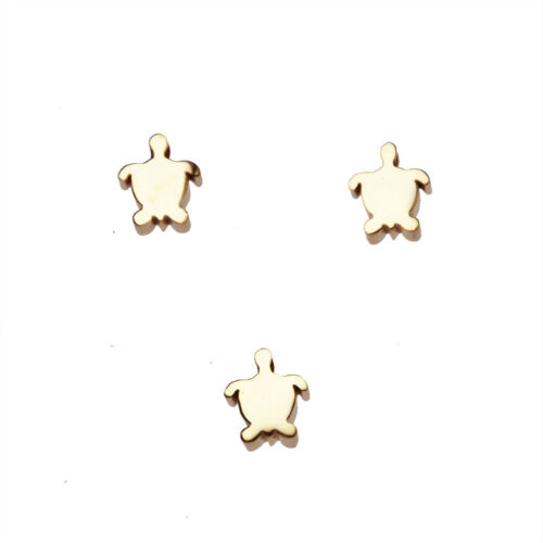 5pcs Stainless Steel Turtle Charm Turtle Hole Loose Beads 7x8mm hole 1.8mm