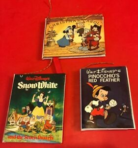 Mickeys Christmas Carol Book.Details About Vintage Disney Mickey S Christmas Carol Snow White Pinocchio Mini Book Ornament