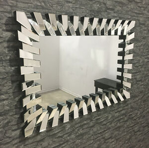 large rectangle 39 piano 39 mirror 120x80 cm ebay. Black Bedroom Furniture Sets. Home Design Ideas