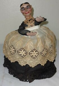 Folk-Art-Hand-Made-Butler-Doll-Carved-amp-Painted-Incredible-Detail-amp-Clothing