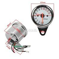 Universal Motorcycle Motorbike Led Digital Tachometer Speedometer 12v