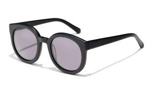 New Epokhe Oha Sunglasses Matte Black/Grey Lens RRP $180