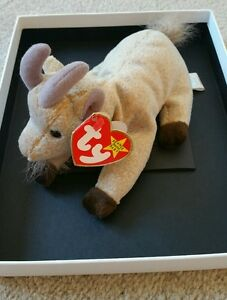 RARE RETIRED - Ty Beanie Baby - Goatee 1998 with tag error(s)   FREE ... 0e50d19909a