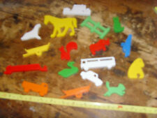 Lot of plastic animal pawns shapes for crafting games replacement parts vintage