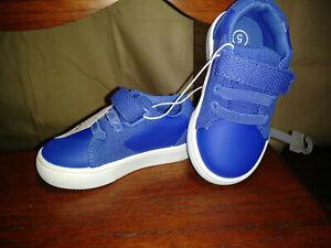 Size 5 Toddler Kids NWT Blue hook loop
