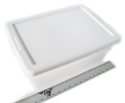16 quart Sterilite Storage Box w/ white Lid Container Plastic Box Bin 1-12pc