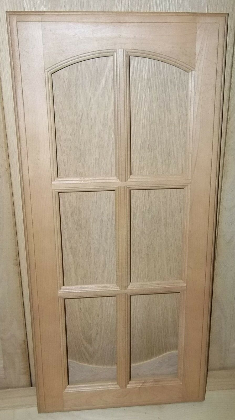 2 MULLION FRAME CABINET DOORS PAINT GRADE MAPLE EYEBROW 6 PANEL 13 3 4 X 28 3 4