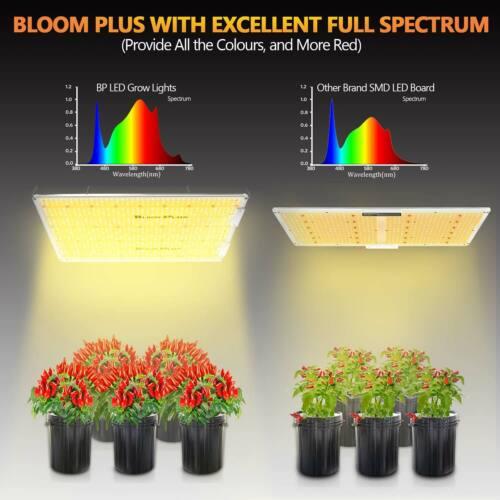 Bloom Plus 3000W LED Grow Light Sunlike Full Spectrum Veg Bloom Indoor Plants