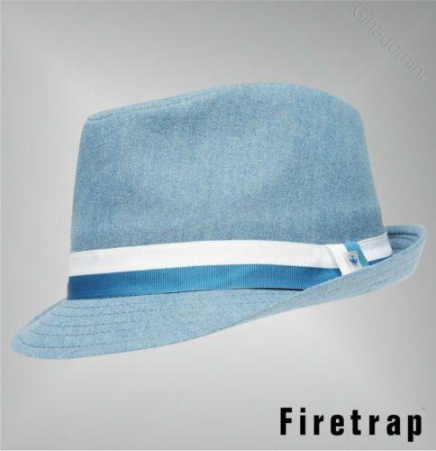 Boys Firetrap Lightweight Block Colours Ribbon Band Tonal Trilby