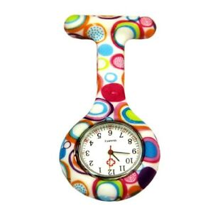 Cute-Circles-Nurse-Hanging-Watch-Clip-on-Fob-Brooch-Pendant-Pocket-Watch-CA