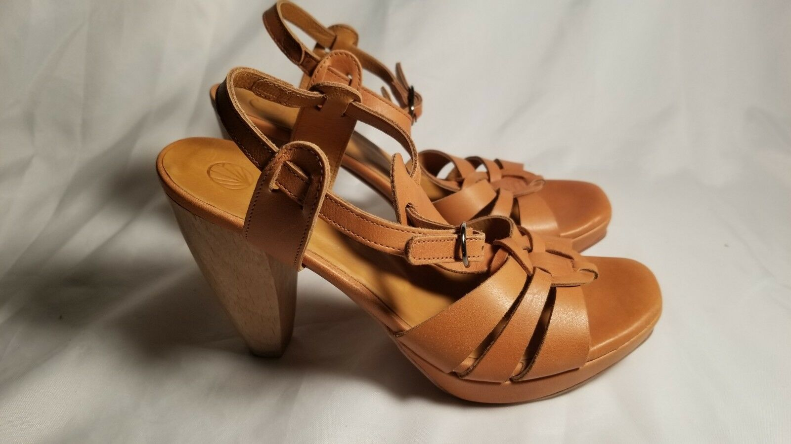 6.5 6.5 6.5  36.5 Coclico donna Heel Sandals Marronee Leather Ankle Strap b156a3