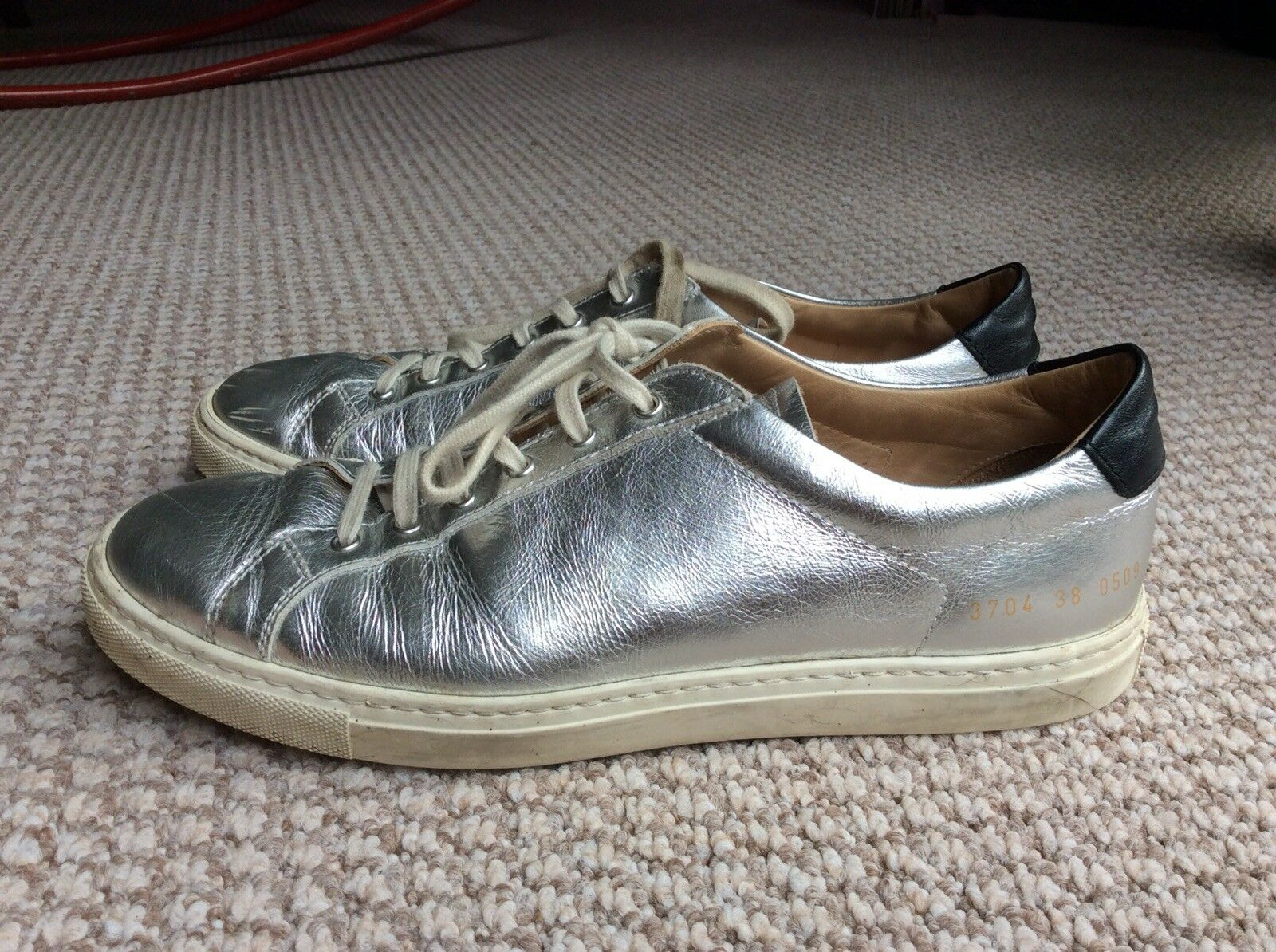 Common Common Common Project Woman Silber Leather Turnschuhe EU38 aab337