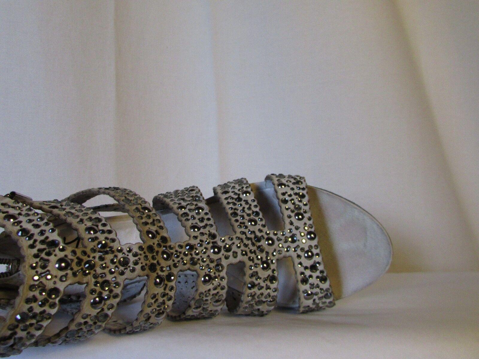Sandalen sehr Mischling -leder Schweden grau sehr Sandalen hell und Strass 37 4cf210